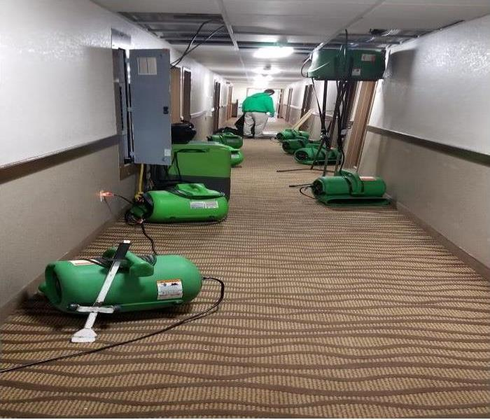 Flooded Hotel Hallway Before Drying