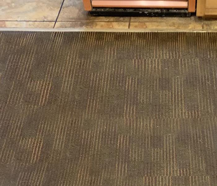 These are both before and after pictures of carpet cleaning at a local restaurant